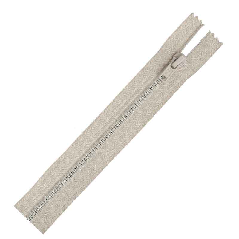 Metal Zipper 14 Ecru