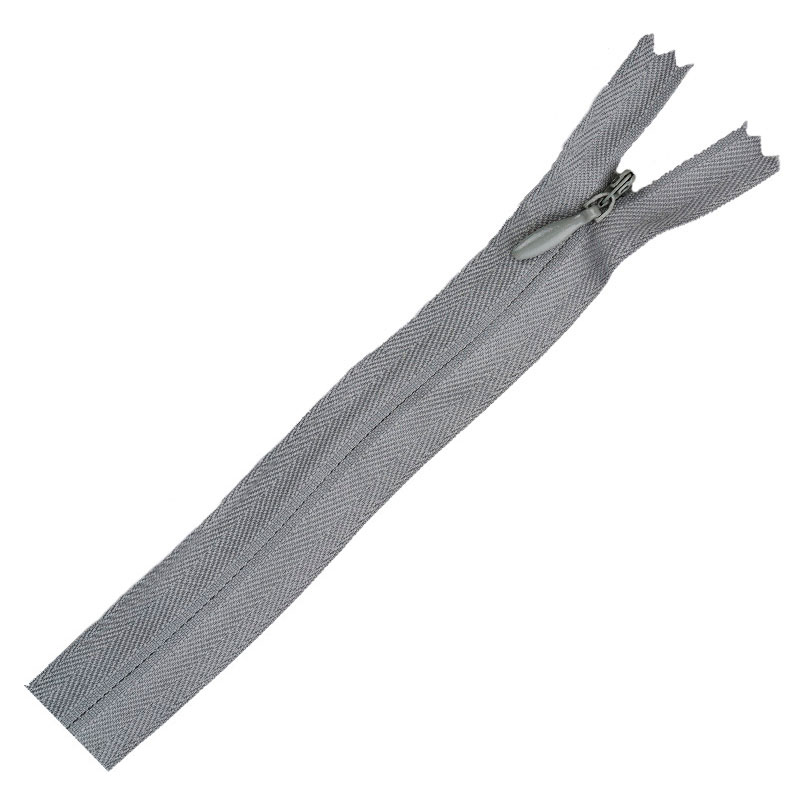 Poly Invisible Zipper 20 - 22 - Nu Grey