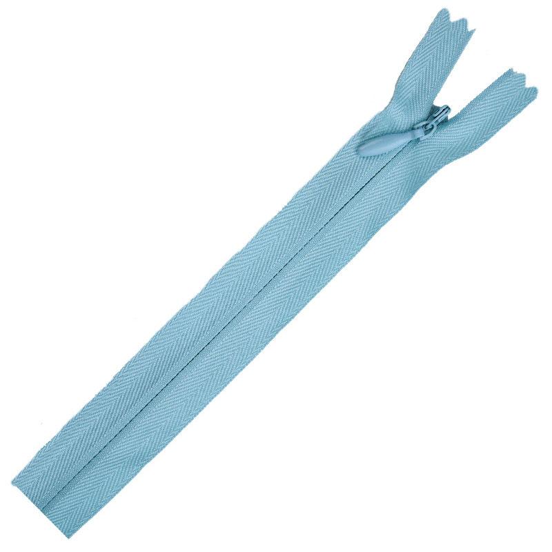 Poly Invisible Zipper 20 -22 Ciel