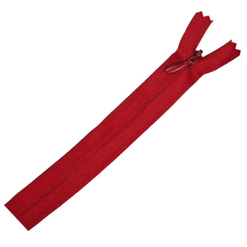 Poly Invisible Zipper 20 - 22 - Red