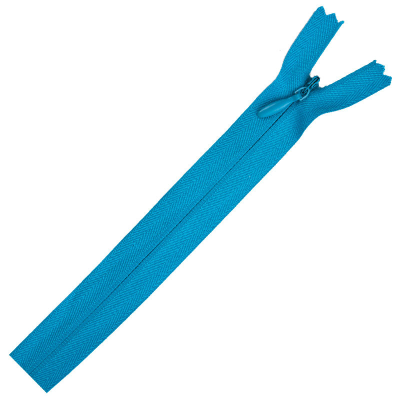 Poly Invisible Zipper 20-22 Rocket Blue