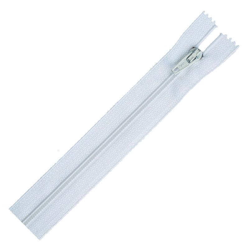 Separting Zipper 10 white