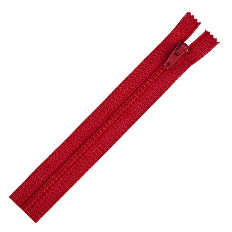Separting Zipper 10 red