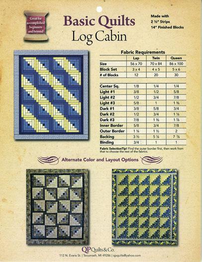 Log Cabin-Basic Quilts - QPQ 0173
