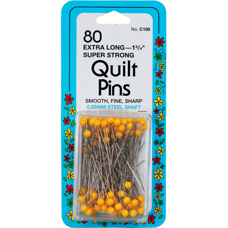 Quilt Pins 1 3/4 80 Ct Yellow