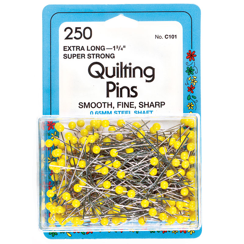 Collins - Quilt Pins 1 3/4  Yellow 250ct