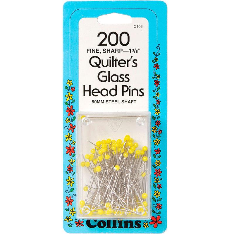 Quilt Glass Head Pns 1 3/8 200