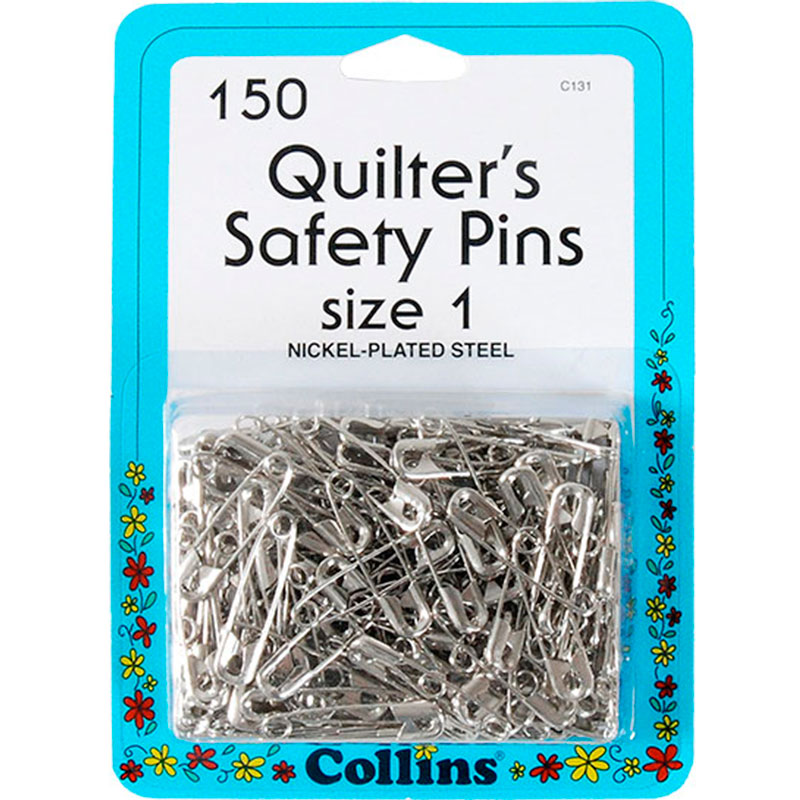 Quilters Safety Pins Sz 1 150ct C131