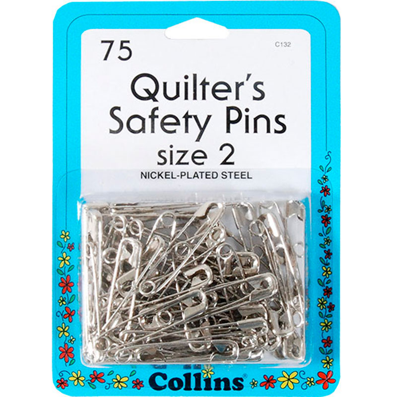 Quilters Safety Pins Sz 2 75 Ct