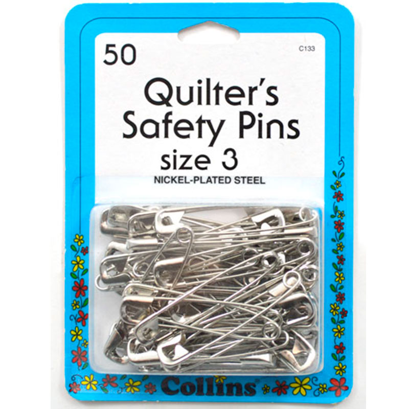 Collins - Quilters Safety Pins Sz 3 50ct