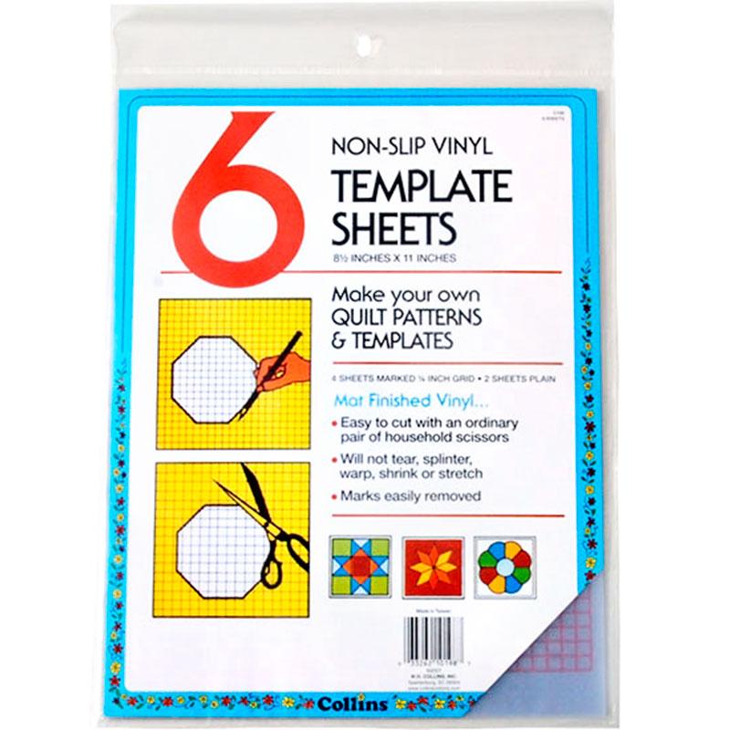 Template Sheet Plastic 6Ct