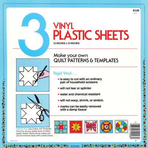 Template Plastic Sheets 12x12 3