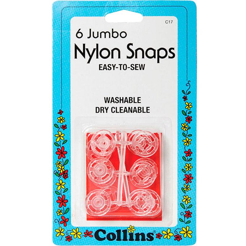 Nylon Snaps Jumbo 6 Ct