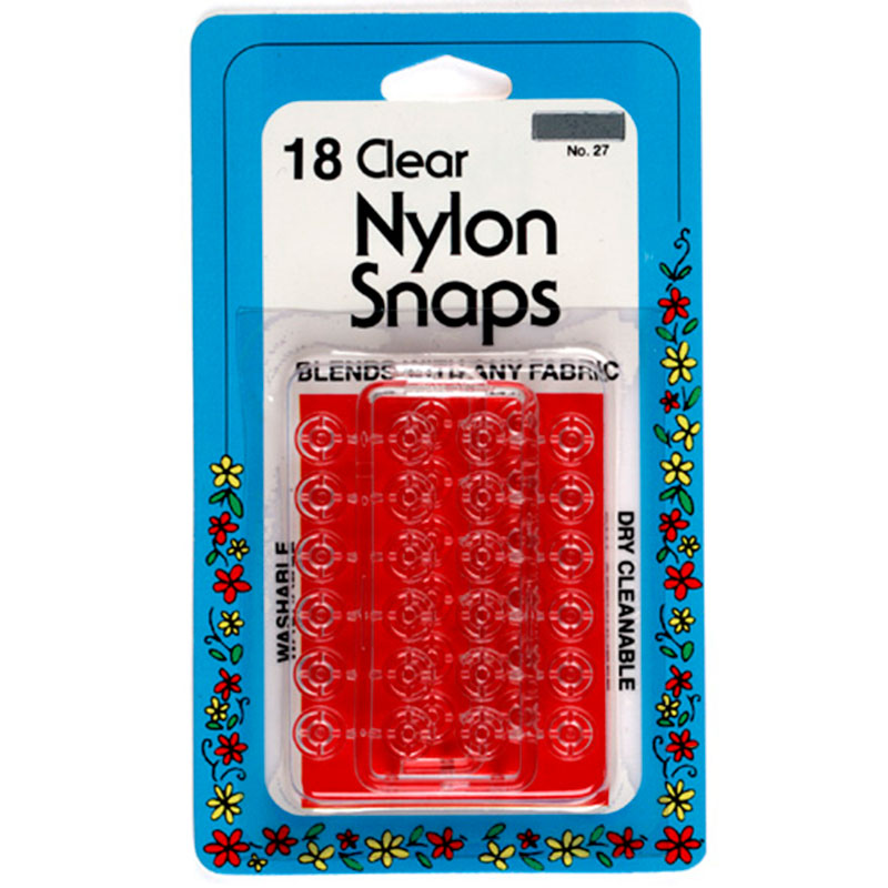 Clear Nylon Snaps