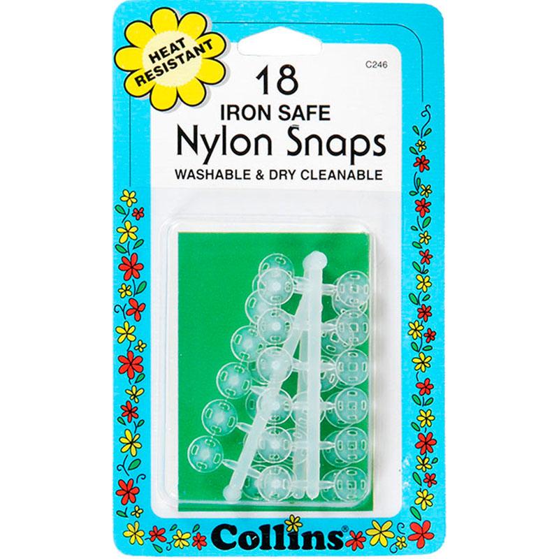 Nylon Snaps Clear 18Ct Iron Sfe