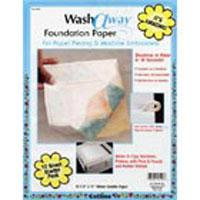 Wash Away Foundation Paper 10ct