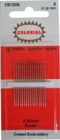 Crewel Embroidery Needles Sz 8 CB13508