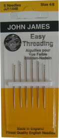 John James Easy Threading Hand Needles Sz 4/8