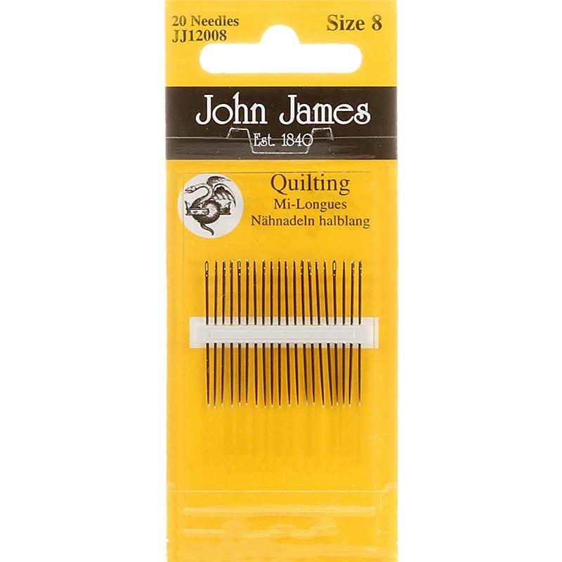 Needles John James Quilting Needles Size 8 jj2008