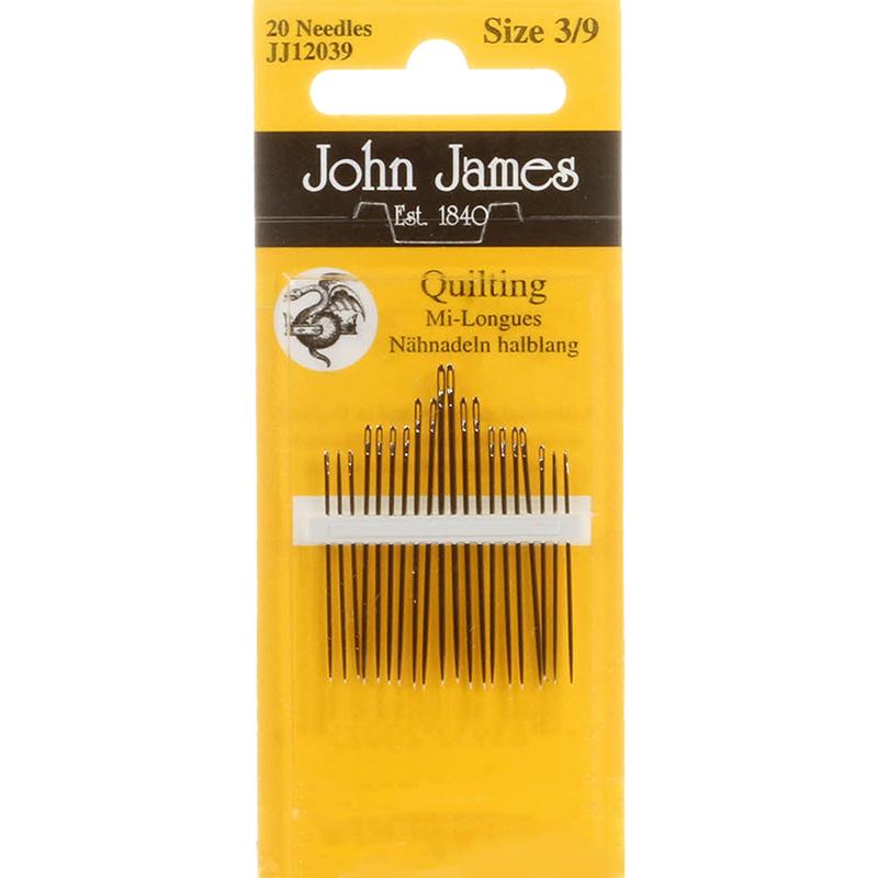 John James Quilting Hand Needles Sz 3/9