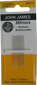 Milliners / Straws Needles Size 11