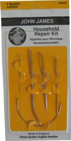 John James Household Repair Needle Assorted Sizes 5ct