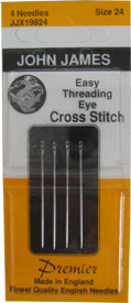 John James Easy Threading Eye Cross-Stitch Needles Size 24