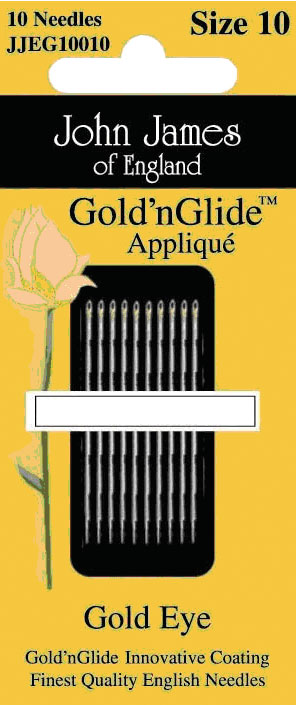 Needles - John James - GoldnGlide Applique Sz. 10