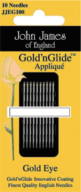 Sz 11 GoldnGlide Needle Applique
