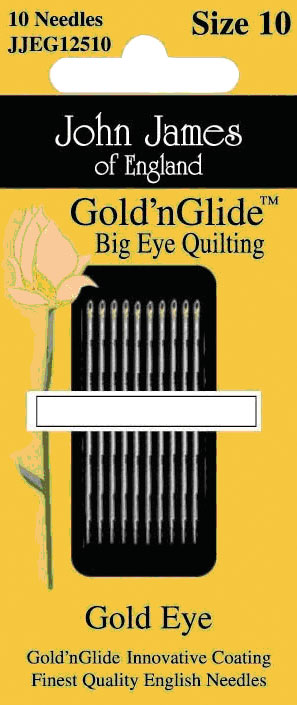JOHN JAMES GOLD N GLIDE BIG EYE QUILTING SIZE 10