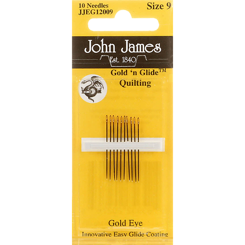 GoldnGlide Needle Quilting Sz 9
