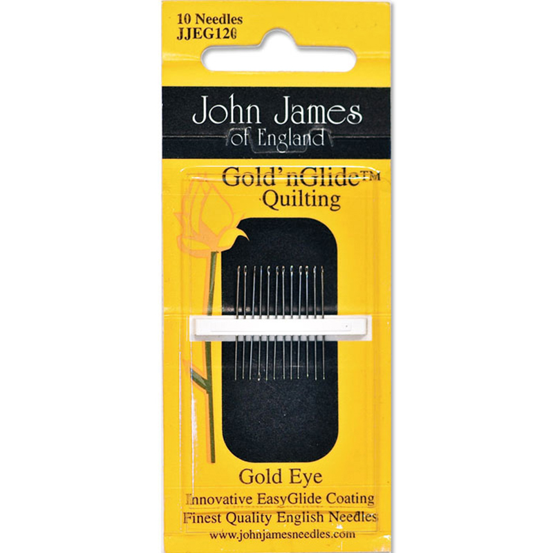 John James Gold'nGlide Quilting Needles Size 10