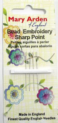 Mary Arden Bead Embroidery Sharp Sz 12