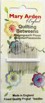 Mary Arden Quilting Needles Sz 10