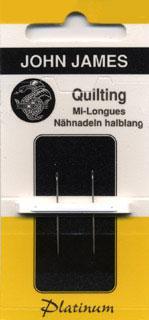 Platinum Quilting Needles - Between Sz 8