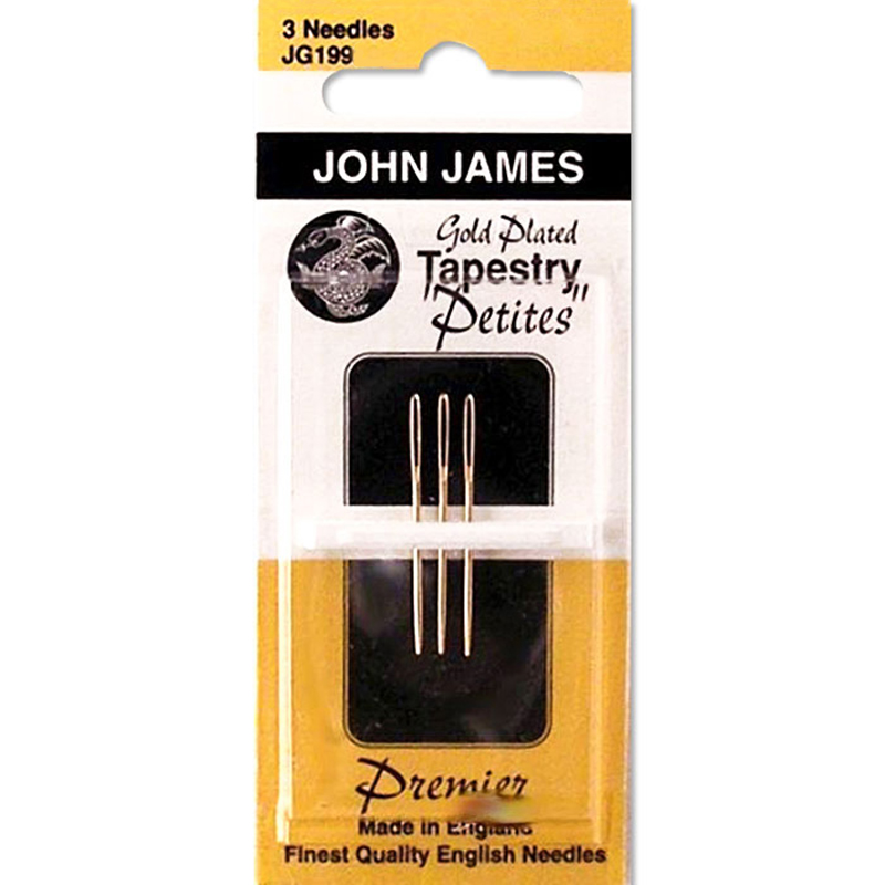 John James Tapestry Petite Needles Size 28 Gold Plated