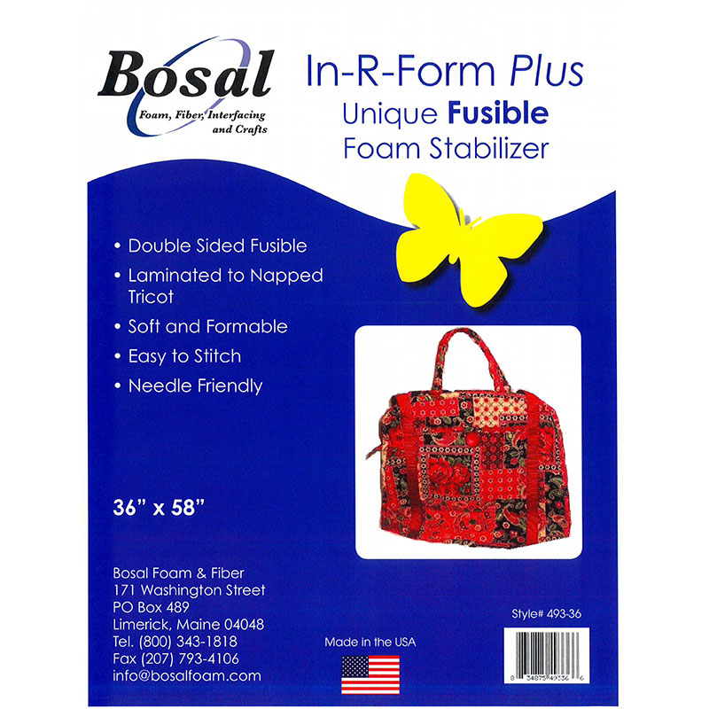 In-R-Form  36in x 58in White Double Sided Fusible Foam Interfacing Bosal