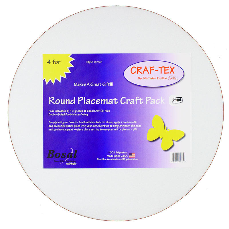 Bosal Placemat Craft Pack Round - 4ct