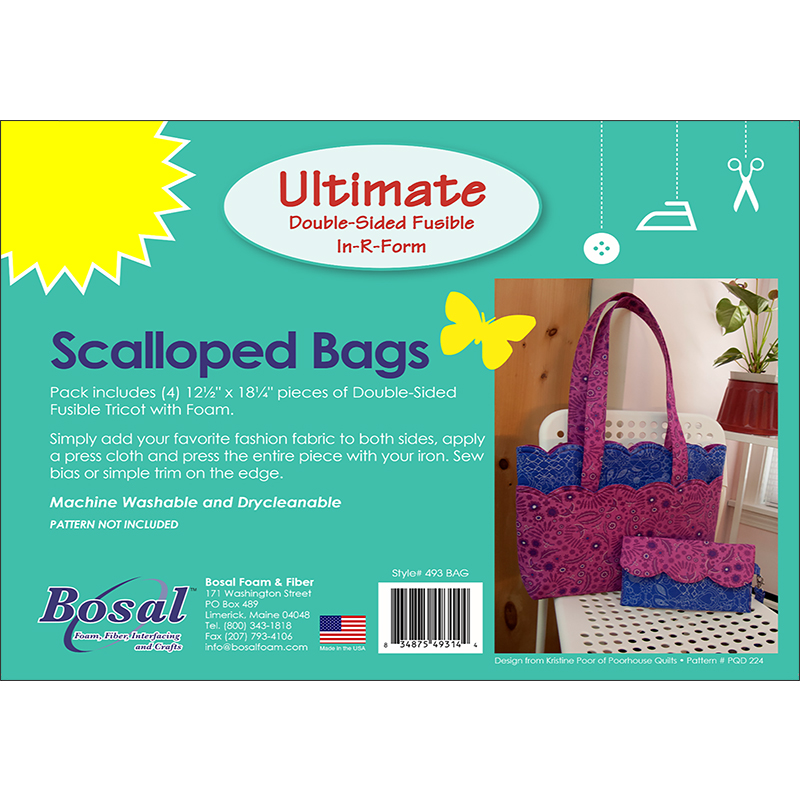 Bosal In-R-Form Ultimate Double-Sided Fusible - Scalloped Bags
