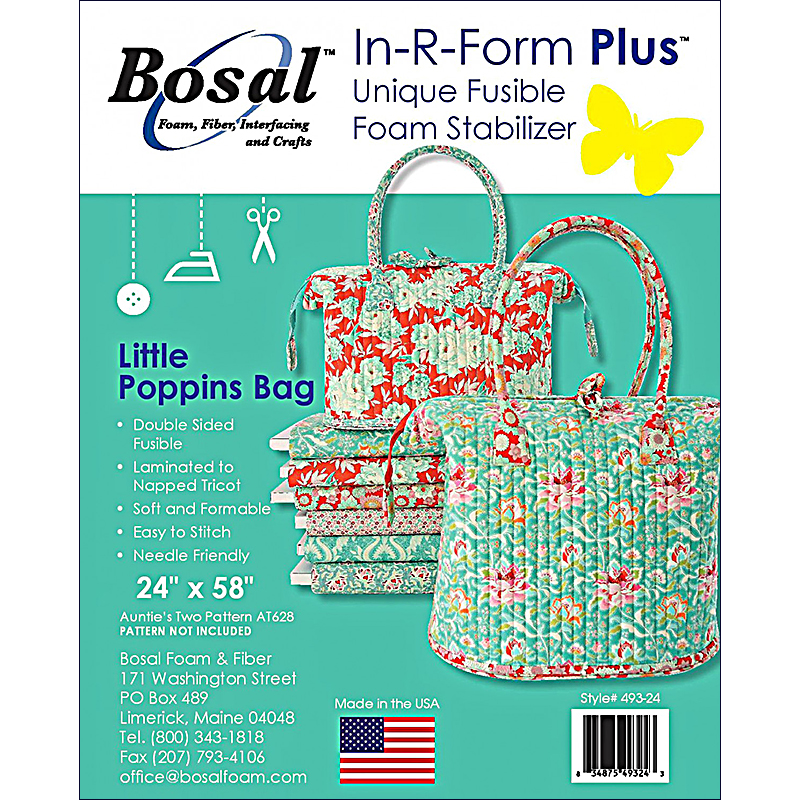 In R Form Plus Double Sided Fusible Foam 24x58 Little Poppins Bag by Annie