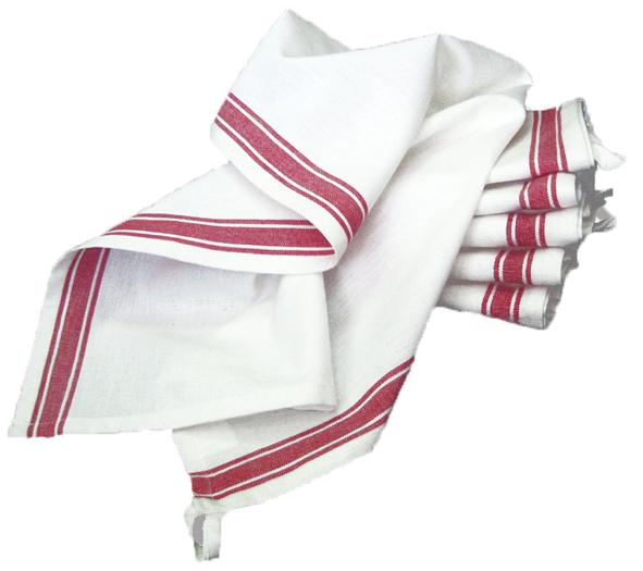 Tea Towel - Red Vintage Stripe