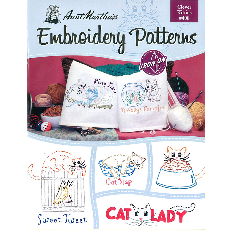 Aunt Martha Embroidery Pattern Clever Kitties