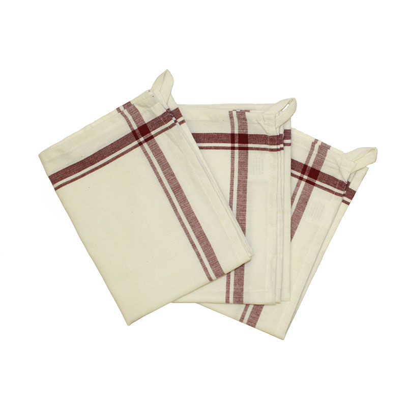 Retro Striped Towel 3ct Maroon