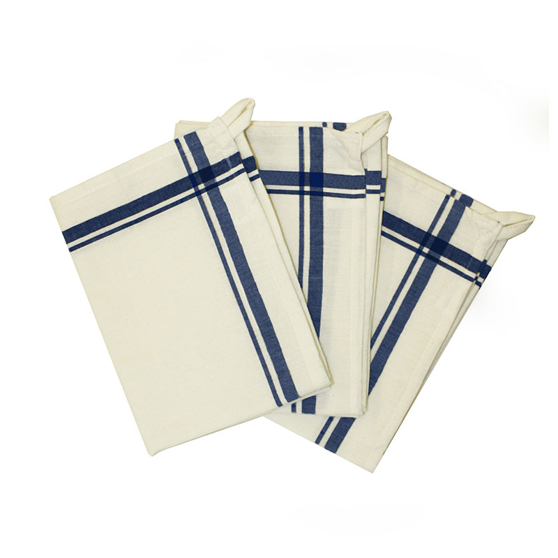 Retro Striped Towel Navy