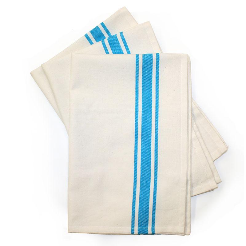 Retro Bold Stripe Towl 3ct Turquoise