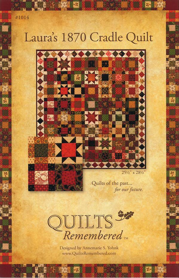 Lauras 1870 Cradle Quilt