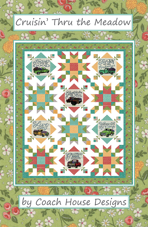 Cruisin' Thru The Meadow Pattern by Coach House Designs