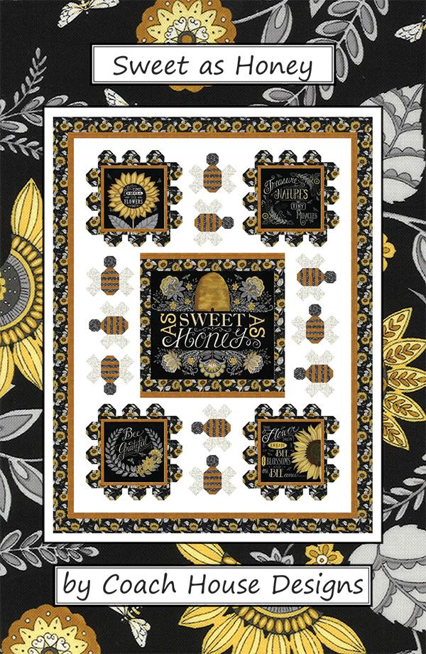 Sweet As Honey Quilt Kit- Parchment Panel