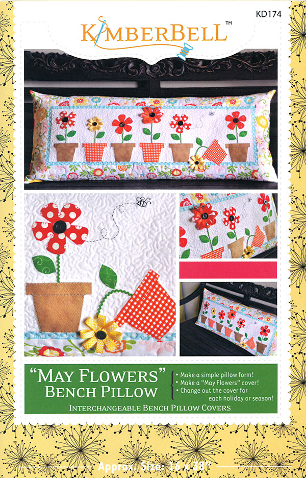 Kimberbell May Flowers Bench Pillow