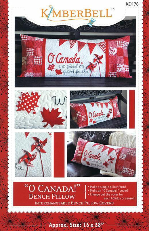 Kimberbell Designs O Canada Bench Pillow